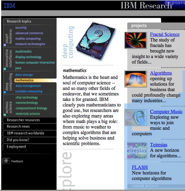IBM research magazine site